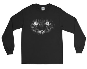 Cat shirt cat shirts funny cat shirt cat sweater cat lady gifts - cat face  Long Sleeve Shirt