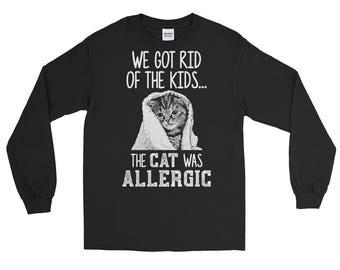 Cat shirt cat shirts funny cat shirt cat sweater cat lady gifts - got rid of kids allergic cat