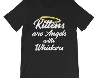 Cat shirt cat shirts funny cat shirt cat sweater cat lady gifts - kittens are angels with whiskers Long Sleeve Shirt