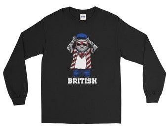 Cat shirt cat shirts funny cat shirt cat sweater cat lady gifts - cat bandana British Long Sleeve Shirt
