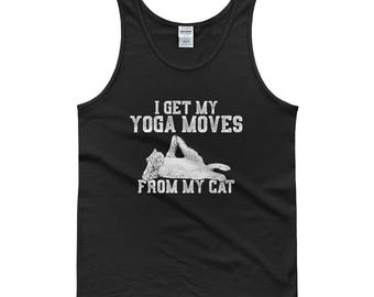 Cat Funny - yoga moves from my cat gift for cat mom - Tank top