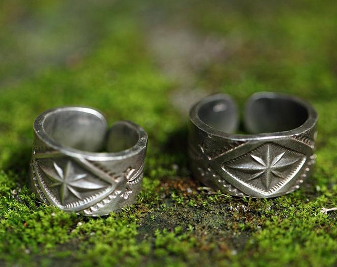 sterling silver wide band ring for women, tribal jewelry for men, silver statement ring men, Indian jewelry pattern, unique wedding band