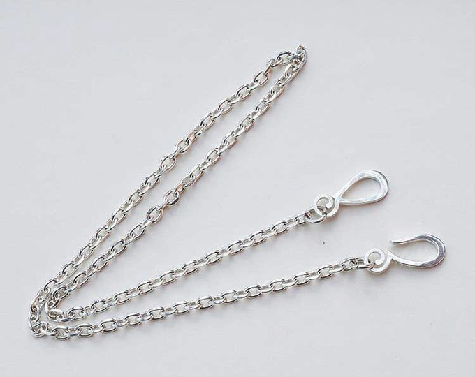 Plain Silver Chain | Silver Chain Necklace | 925 Sterling Silver Chain | Silver Link Chain | Silver Necklace | Simple Chain Necklace Tribal