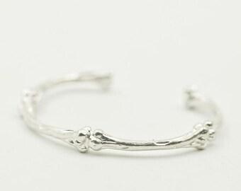 Skeleton Bangle   Morbid Jewelry   Gothic Bangle   Skeleton Bracelet   Skeleton Jewelry   Sterling Silver Bracelet   Bangle Bones Bracelet