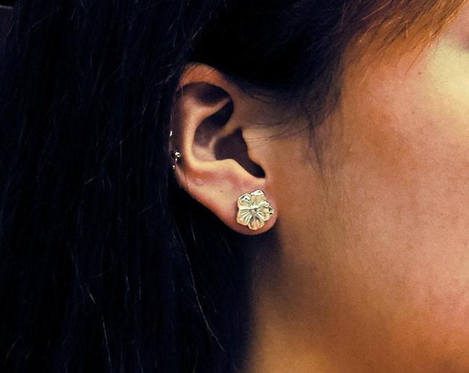 Sakura Earrings   Cherry Blossom Stud   Silver Flower Studs   Floral Stud Earring   Flower Post Earring   Plumeria Earring   Dainty Earrings