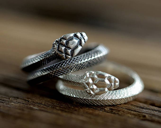 serpent ring sterling silver snake ring women, unisex ring, ouroboros ring men, gothic jewelry, kundalini snake jewelry for women, goth ring