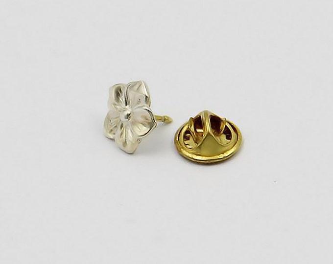 Sakura Collar Pin | Flower Collar Pin | Silver Cherry Blossom | Cherry Flower Charm | 5 Petal Silver Flower | Sakura Jewelry | Gift for Her