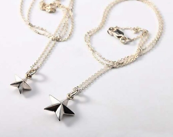 Silver Star Necklace   Tiny Star Pendant   Dainty Necklace   Thin Silver Chain   Daily Wear Necklace   Lucky Star Necklace   Tiny Star Charm