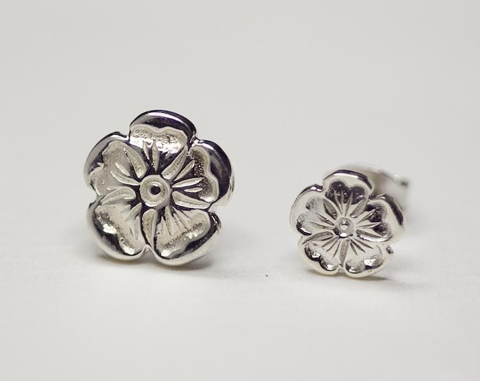 Silver Rose Earrings | Flower Earrings | Bridesmaid Gift | Rose Stud Earrings | 925 Silver Rose Studs | Flower Stud | Everyday Wear Earrings
