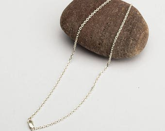 Collarbone Necklace | Collarbone Chain | 925 Sterling Silver Chain Women | Super Slim Chain Silver | Spring Clasp Closure | Gift For Her