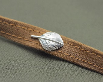Silver Collar Pin | Feather Lapel Pin | Silver Feather Collar Pin | Feather Brooch | Silver Boutonniere | Palm Leaf Brooch | Gift for Her