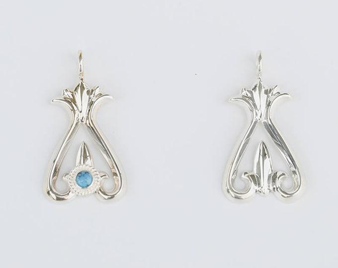Silver Naja Pendant | Native American Inspired | Crescent Pendant | Naja Turquoise Pendant |Squash Blossom Pendant |Naja Charm |Gift For Her