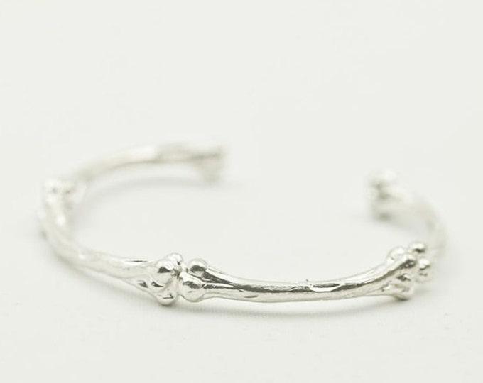Skeleton Bangle | Morbid Jewelry | Gothic Bangle | Skeleton Bracelet | Skeleton Jewelry | Sterling Silver Bracelet | Bangle Bones Bracelet