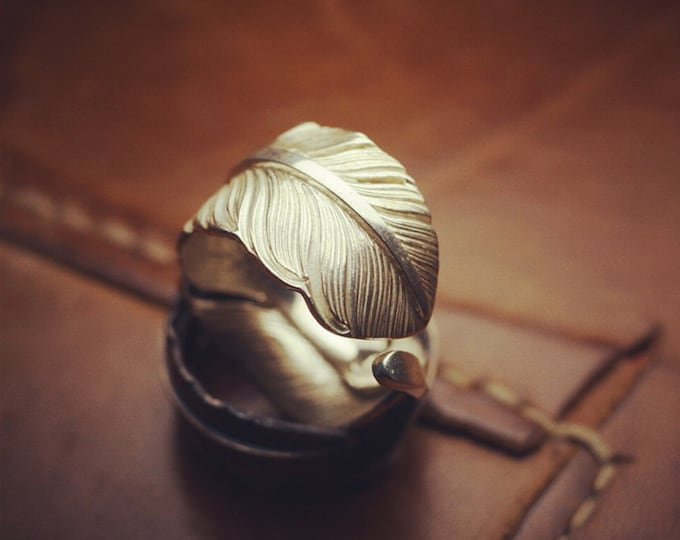 boho rings sterling silver eagle feather quill ring, wide band ring for women, Native America Indian jewelry for men, bohemian jewelry mom