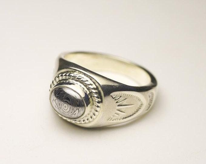 Gemstone Signet Ring   Tribal Silver Ring   Birthstone Ring   Oval Gemstone Ring   Engraved Silver Ring   Simple Silver Ring   Rings for Men