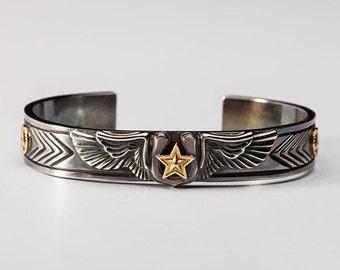 sterling silver angel wing bracelet woman, western jewelry for women, gold star bracelet, good luck bracelet gifts for boyfriend, horseshoe