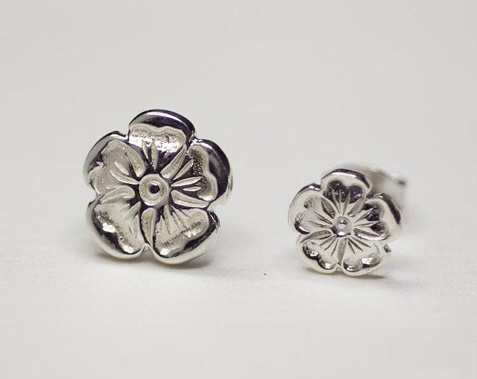 Silver Rose Earrings | Flower Earrings | Bridesmaid Gift | Rose Stud Earrings | 925 Silver Rose Studs | Flower Stud | Everyday Wear Earrings