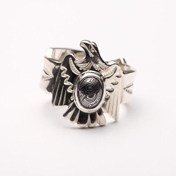 Silberring Adler Fliegender Vogel Ring Native American Etsy