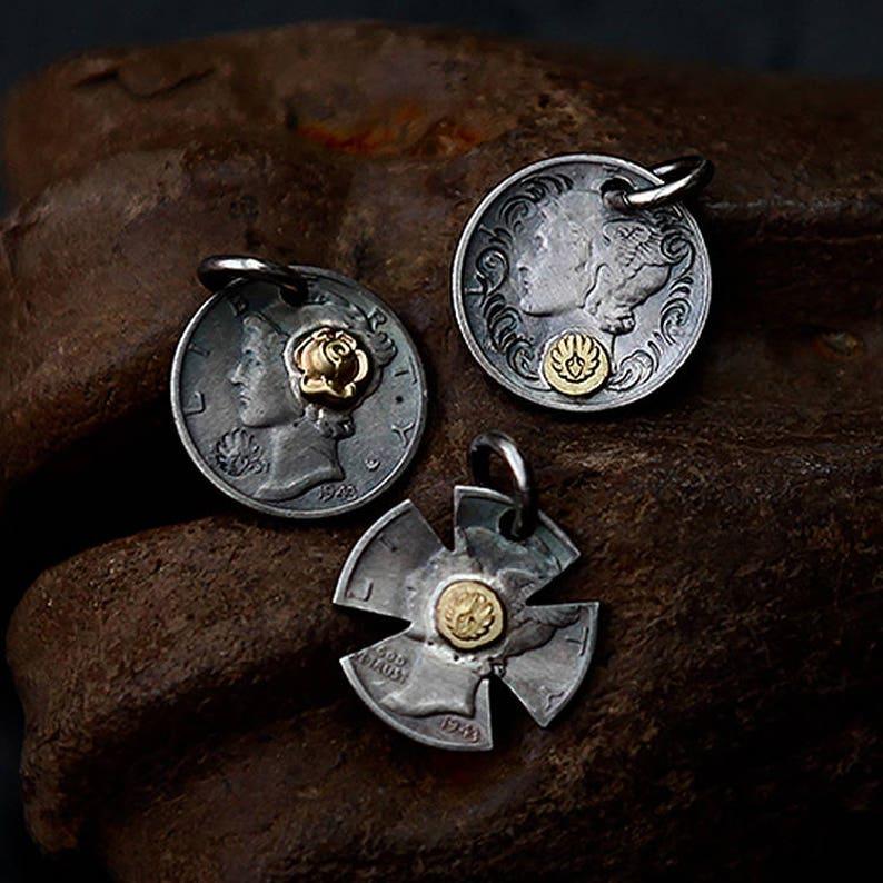 La Grèce grec Vintage Alexandre le Grand Coin Charm Pendentif Charme Collier