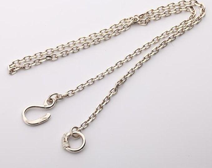 Simple Silver Chain   Minimalist Necklace   Plain Silver Chain   Sterling Silver Necklace   Layering Necklace   Eagle Head Necklace Tribal