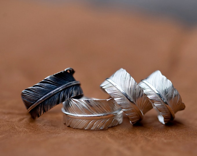 bohemian jewelry sterling silver feather ring boho rings for women, spirit animal ring, high school graduation gift for her, totem ring mom