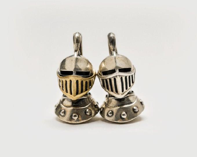 Silver Knight Necklace For Men | Gold Knight Pendants | Roman Knight Helmet Pendant | Antique Necklace Mens | Renaissance Pendant Medieval