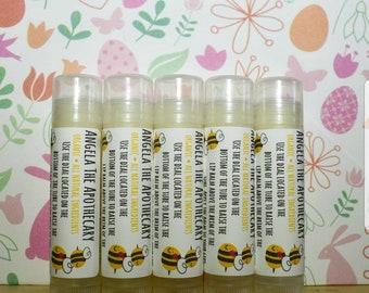 Organic Honey Chapstick, SET OF 5 - Organic Lip Balm, Honey Lip Balm, Easter Basket, Natural Chapstick, Organic Chapstick, Gifts For Her