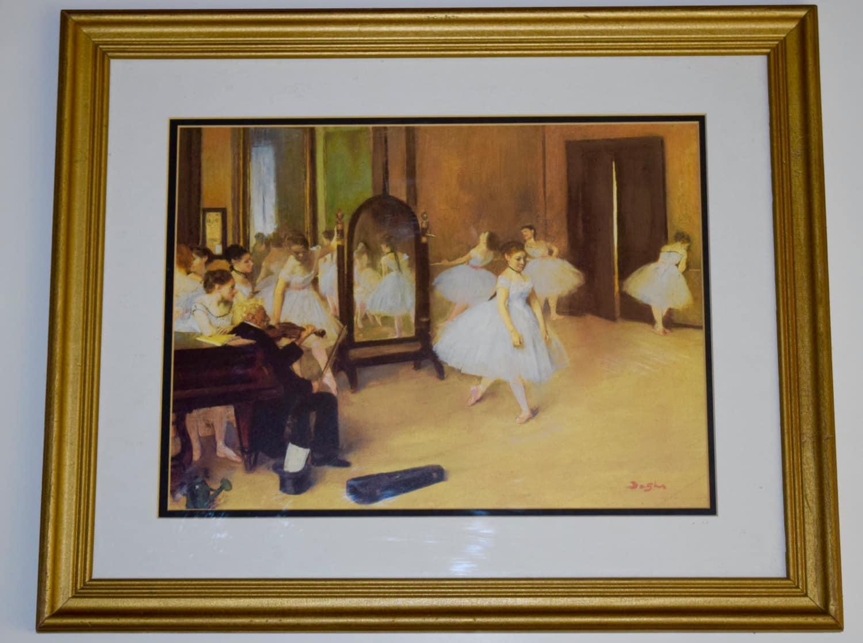 Ballerina-Print antik gold Rahmen vintage