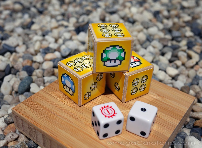 super Shroom Dice  oversized Super Mario-themed pixelArt image 0