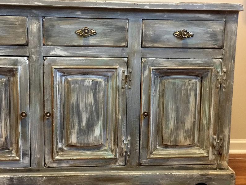 SOLD Antique Rustic Buffet Server Bathroom Vanity Shabby ...