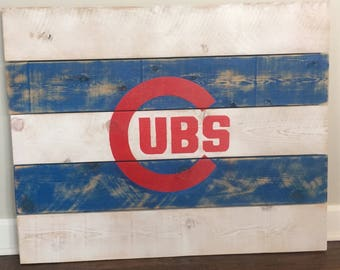 Chicago Cubs Wood Art