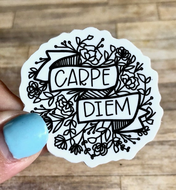 Carpe Diem vinyl decal sticker for Car//Truck Window tablet seize the day inspire