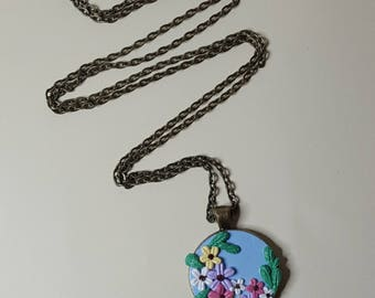 OOAK Polymer Clay Necklace