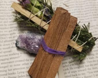 NATURAL RAW SANDALWOOD incense sticks, earthy, fragrant, sensual, purify, consecrate, ritual,  spell, romance, passion, sacral chakra