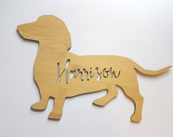 Dachshund dog can make the gate retro vintage style metal wall plaque sign
