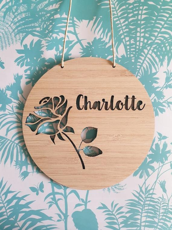 ROSE Personalised Wooden Wall  Door Hanging-wall hanging-kids door sign-custom name-kids gift-baby gift-lasercut-plaque-nursery decor