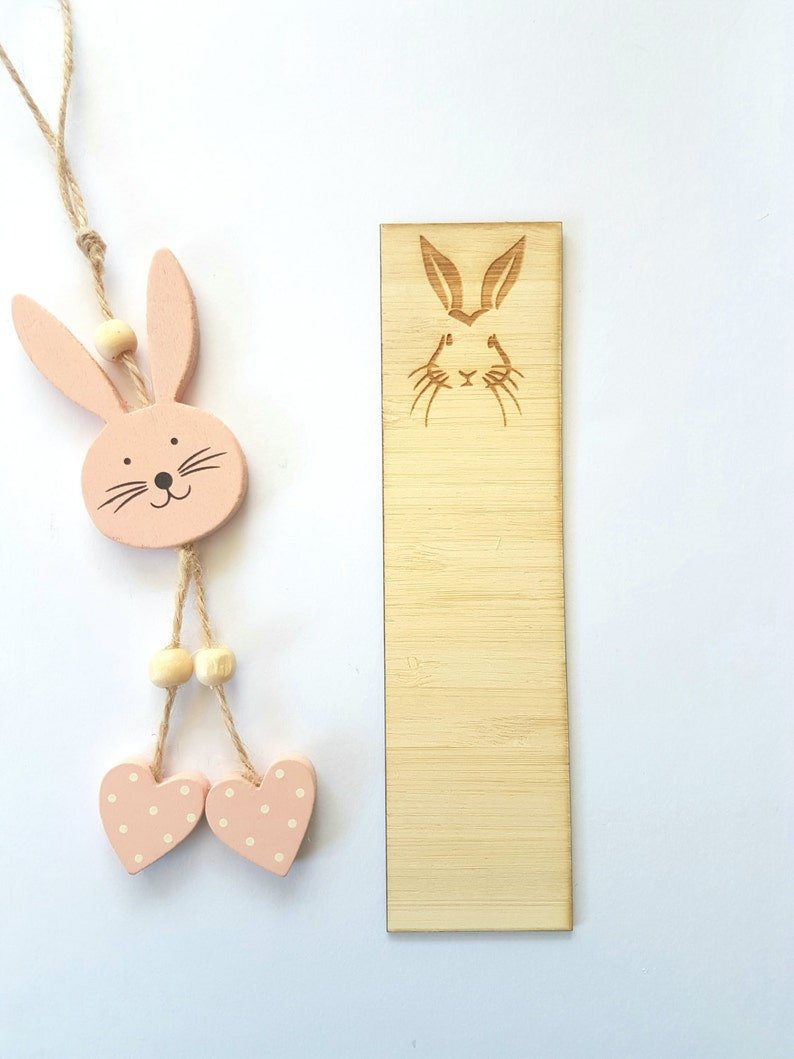 Bunny-Rabbit-Easter-Wooden Bookmark-laser cut image 0
