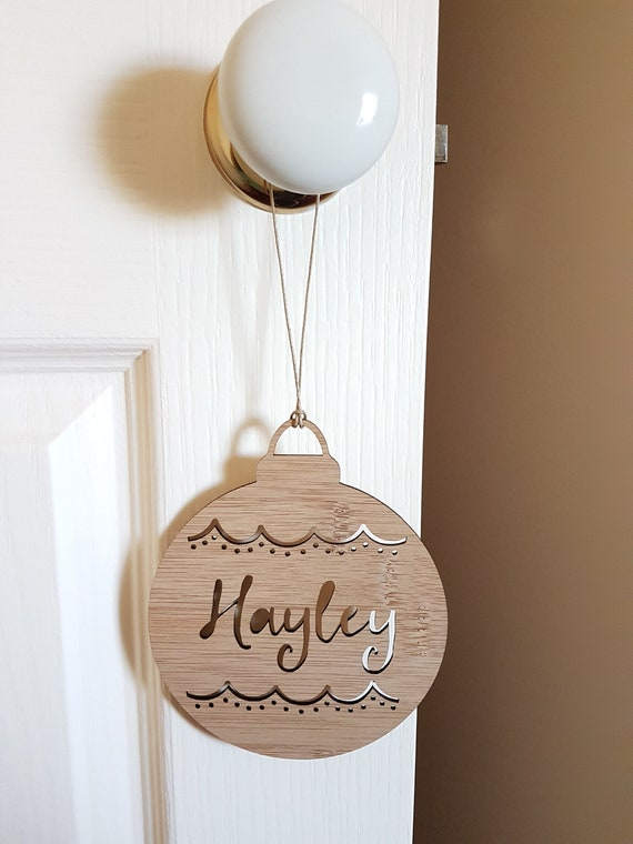 Big Bauble Personalised Wood Christmas Decoration Etsy