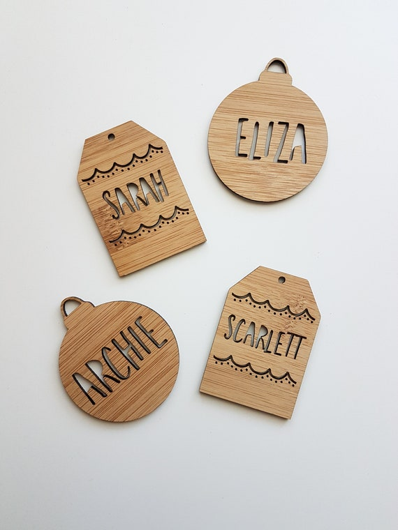 Personalised Wooden Keyrings Keychain,Tags,Labels,Christmas,Gift,Wedding Favours