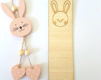 Bunny-Rabbit-Easter-Wooden Bookmark-laser cut