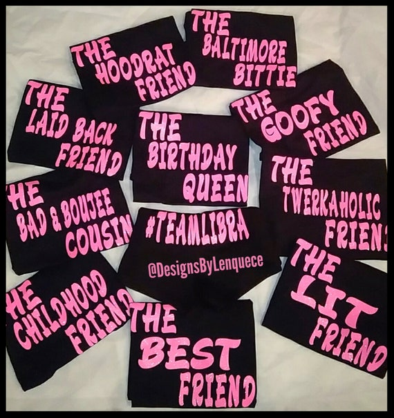Teen Birthday Shirts Group GLITTER
