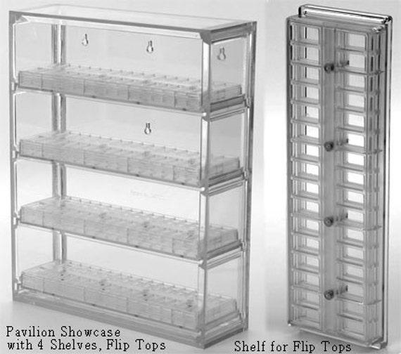 Bead Pavilion Showcase with 2 Round and 2 Flip Top Shelves Sova Enterprises