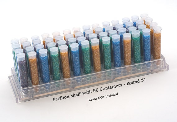 Bead Organizer 6 Clear Round Tubes and caps 916 Candy Favor Tube Seed Bead Storage