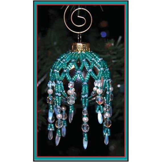 Beaded Christmas Ornaments Patterns.Mini Sparkling Ornament Cover Beaded Christmas Ornament Cover Pattern Tutorial Beaded Bauble Tutorial