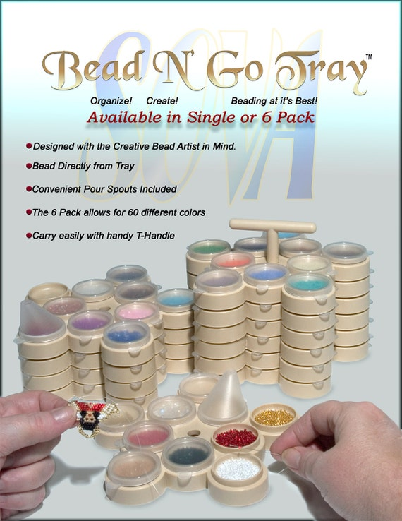 Bead N Go Bead conteneurs avec bec verseur 6-Pack