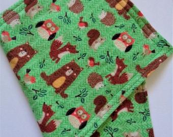 Woodland Friends Burp Cloth