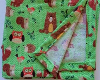 Woodland Friends Swaddle Blanket