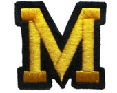 3 quot Iron On LETTER Monogram for Denim and Varsity Jackets Custom Embroidered PATCHES for Bridesmaid Bridal Party Robes