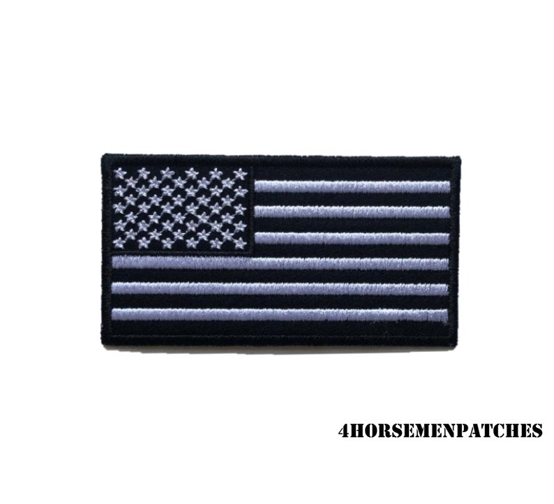 Denim 4.25 Custom AMERICAN FLAG Iron On Embroidered Patches for Army Jean /& Bomber Jackets and Jiu Jitsi Gi and Military Uniforms or Hats