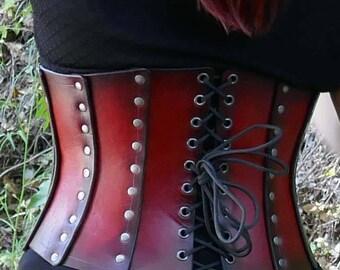Underbust Leather Corset